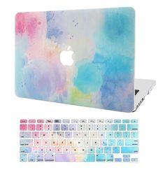 KECC Laptop Case for MacBook Air w/Keyboard Cover Plastic Hard Shell Case 2 in 1 Bundle (Rainbow Mist Laptop Keyboard Covers, Computer Case, Laptop Computers, Laptop Stickers, Laptop Stand, Apple Laptop Covers, Mac Book Covers, Mac Book Air Cases, Mac Book Pro Case