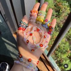 Diy Beaded Rings, Diy Jewelry Rings, Bead Jewellery, Cute Jewelry, Beaded Jewelry, Beaded Bracelets, Surf Necklace, Diy Necklace, Homemade Bracelets