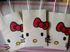 @Jonine Patterson Blackshear This is cute. Maybe for a known little girls birthday..? Hello Kitty Goody Bag, Birthday Party Decorations