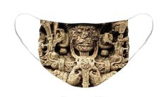 Copan Face Mask by Robert Grac. The face mask is machine washable. All face masks are available for worldwide shipping and include a money-back guarantee. Maya Civilization, Mesoamerican, Hans Christian, Masks For Sale, Basic Colors, Mask Design, Color Show, Boho Shorts, Colorful Backgrounds