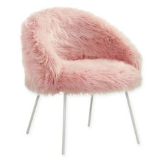 The high quality steel Faux Fur Chair by Inspired Home will be the perfect seating addition to your home. The full back and medium cushion of this chair will give you lots of support and keep you comfortable, so you can use it anywhere. Room Ideas Bedroom, Bedroom Chair, Girls Bedroom, Bedroom Decor, Blue Bedrooms, Bedroom Furniture, Wooden Office Chair, Office Chairs, Gold Rooms