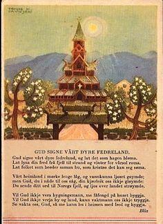 "Trygve M. Davidsen Fedrelandskort ""Gud signe vårt dyre fedreland"""