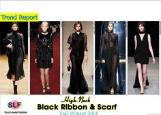 Black Ribbon & Scarf #FashionTrend for Fall Winter 2014 #Trends #Fall2014 #FW2014