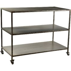 This simple iron rack creates with its simplicity, a distinctive expression and has really great functional qualities with its wheels, 3 shelves and depth. cm x cm x cm www. Tidy Up, Made Of Wood, Wood And Metal, Declutter, Iron, Shelves, Cabinet, Cool Stuff, Simple