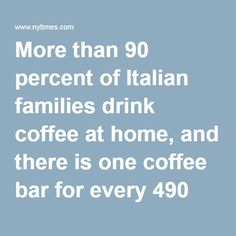 More than 90 percent of Italian families drink coffee at home, and there is one coffee bar for every 490 Italians, according to Illy, one of Italy's leading coffee producers, and a local organization that studies food and drinks. Espresso comes in seemingly infinite forms: ristretto (strong), lungo (more water), macchiato or schiumato (with a bit of milk or milk foam), or corretto (a kick of liquor added).  Photo  Receipts are left to be claimed by those who are unable to afford a cup of…
