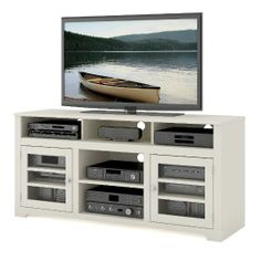 Sauder Salted Oak Tv Stand Canadian Tire Riverhouse Apt Ideas