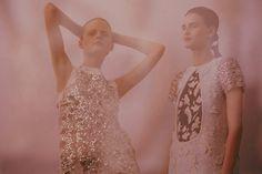 Christian Dior Haute Couture SS15 Metallic Bead Sequin Dress