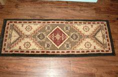 Vintage Southwestern Tribal Western Native 21x60 Hall Hallway Runner Accent Rug | eBay