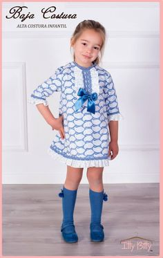 b4007f381e98c Itty Bitty Premium Spanish Boutique Blue Bow Dress. Spanish Baby ClothesBaby  ...