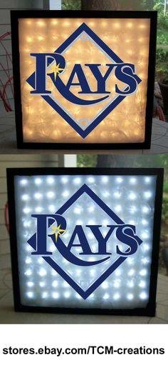 MLB Major League Baseball Pennsylvania Rays shadow boxes with LED lighting