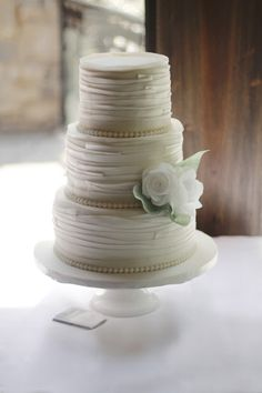 Sweet Avenue Cakery: White Ruffles Wedding Cake | Hamilton Niagara Wedd...