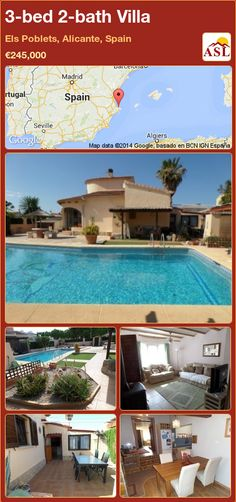 3-bed 2-bath Villa in Els Poblets, Alicante, Spain ►€245,000 #PropertyForSaleInSpain