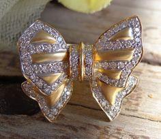 SOLD VTG Diamond 18k Gold Ring .84 TCW Bow Sz 6 13g ESTATE Jewelry GIA Appraisal 3759 #Cocktail