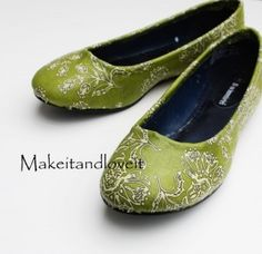 Mod podge fabric onto shoes - totally doing this.