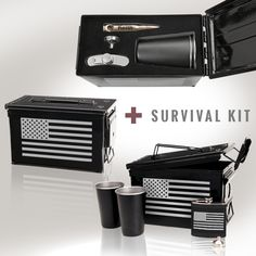 At #Bullets2Bandages we pride ourselves on repurposing #military hardware into unique and memorable gifts. This particular Survival Kit is a perfect gift for Father's Day, your best man or groomsmen, graduations, retirements or birthdays! Cool gift ideas for men and even for women! Repin to show support to our military!