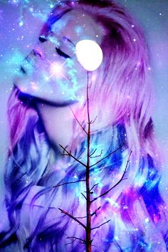 sLyefusion: cosmic gypsies galaxy girls high fashion fusion art color beauty prints available soon on etsy