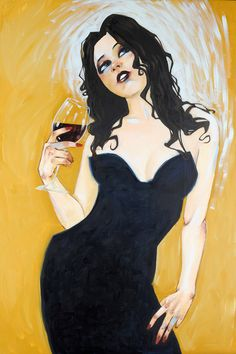 Lovesick At the First Fond Song 2010 Embellished by Todd White - Hand Embellished Canvas on Innova Substrate Todd White Art, Woman Wine, Wine Art, Selling Art Online, Sketch Inspiration, Female Art, Fine Art Prints, Artwork, Wine Lover