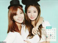 Bomi and Eunji