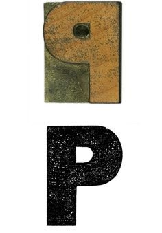 6 line Gothic No. 5072 wood type capital letter P