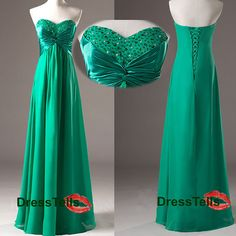 Green prom dress long prom dress 2014 / Green formal by dresstells