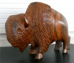 Buffalo Ironwood Sculpture