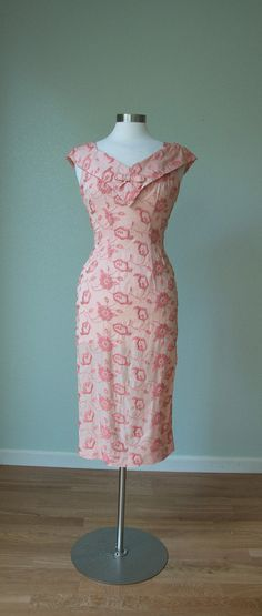 bbc484bc1f83 Flirty 1950s Alix of Miami Dress / Hourglass Dress / 50s Summer Dress /  Curvy Bombshell / Small