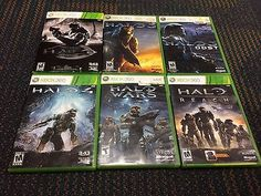 Halo Xbox 360 GAME LOT HALO 3 ODST 4 WARS REACH COMBAT EVOLVED ANNIVERSARY
