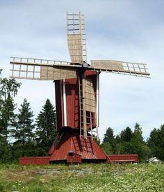 Tuulimylly Korsnäsissä. Sijainti: Korsbäck. (Kuva:Jari Laurila:2013): Old Windmills, Le Moulin, Finland, Arch, Wind Mills, Outdoor Structures, Garden, Windmills, Longbow