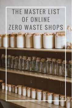 The Master List of Online Zero Waste Shops! #greenlivingtips Zero Waste Shop, No Waste, Reduce Waste, Zero Waste Grocery Store, Grocery Haul, Recycling, Tutorial Diy, Reduce Reuse Recycle, Eco Friendly House