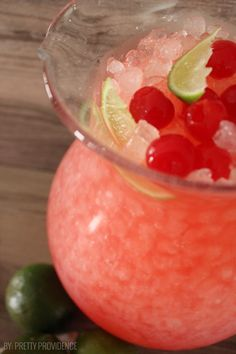 Looking For Refreshing Summer Drink Recipes? One Of Our Favorite Summer Drinks Is This Cherry Limeade. It Tastes Just Like Sonic Cherry Limeade! Now You Can Make It At Home With Our Cherry Limeade Recipe! Cocktail Drinks, Non Alcoholic Drinks, Fun Drinks, Yummy Drinks, Beverages, Cocktails, Cherry Limeade Recipe, Sonic Cherry Limeade, Slushie Recipe