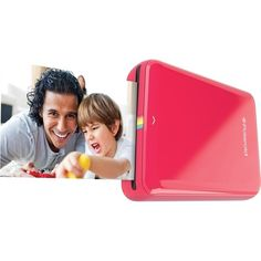 Polaroid - ZIP Mobile Instant Printer - Red
