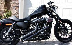 Harley Iron 883 Vances & hines loud pipes ! FOR GOD SAKE !