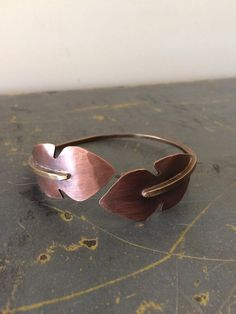Nymph Leaf Cuff - Mixed Metals Adjustable Cuff