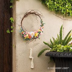 DIY a wreath that's dainty in size but but huge on style! Wreaths And Garlands, Holiday Wreaths, Door Crafts, Teen Room Decor, Diy Projects Videos, Wreath Tutorial, Craft Night, Diy Wreath, Sewing Crafts