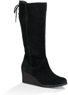 8c7b9d874002 UGG Dawna Tall Waterproof Suede Wedge Boots