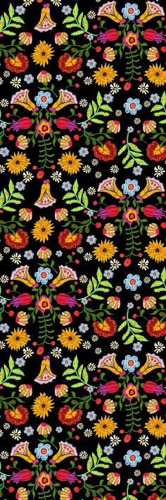 We refer to artistic creations by indigenous people as folk art. Folk art is something beautiful tha Trippy Wallpaper, Retro Wallpaper, Wallpaper Backgrounds, Flower Backgrounds, Homescreen Wallpaper, Cute Patterns Wallpaper, Wall Collage, Cute Wallpapers, Aesthetic Wallpapers