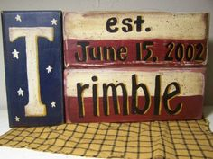 Hey, I found this really awesome Etsy listing at http://www.etsy.com/listing/100169954/americana-stacking-blocks-name-sign