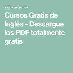 Cursos Gratis de Inglés - Descargue los PDF totalmente gratis