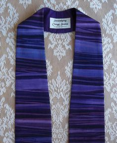 Purple Clergy Stole For Advent Will ship by SerendipityStoles