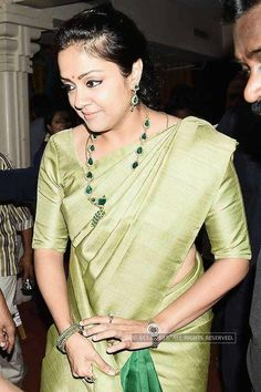 Jyothika arrives for the wedding reception of Amresh and Keerthi held at Raja Mutthaiah hall in Chennai - Photogallery