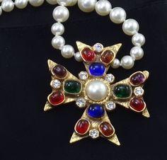Vintage Statement Necklaces by v385 on Etsy