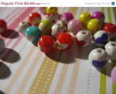 Summers End Sale 30 Assorted Heart Lucite Beads by LunasSecrets, $1.60