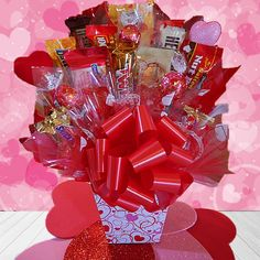 Classic Valentine Candy Bouquet | Buy at All About Gifts & Baskets (http://www.aagiftsandbaskets.com/classic_valentine_candy_bouquet.html)
