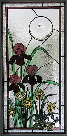 Sunflower Glass Studio | Residential Windows - Stained Glass Bathroom Window