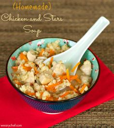 Homemade Chicken and Stars Soup - Skip the can and try this wholesome, fun dinner!