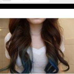 I totally want blue peekaboo highlights.