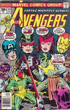 Comic The Avengers 154 MARVEL COMICS by FeedYourGeekShop