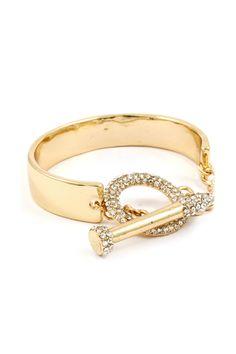 Crystal Circlet Bracelet in Gold