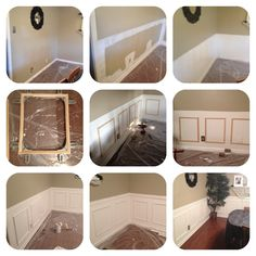 Project: Pinterest is Going to get me Divorced #1: Faux Wainscoting