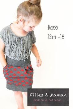 PDF pattern Rose's skirt with english instructions by FillesaMaman, $9.00